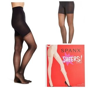 Spanx sheers leg support plus size 6 F black